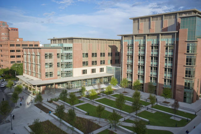Aerial view of the Clyburn Research Building