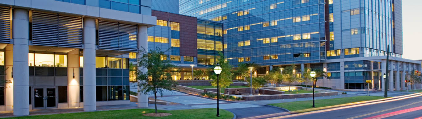 MUSC Campus at dusk