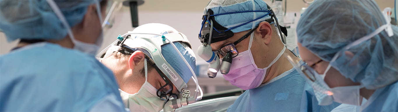 MUSC Cardiology physicians operating on a patient