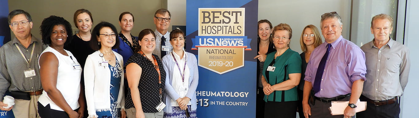 Rheumatology faculty photo US News and World Report banner