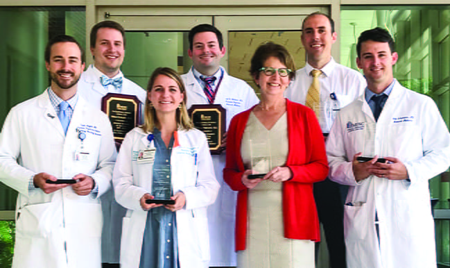 2018 Resident Award Day Recipients