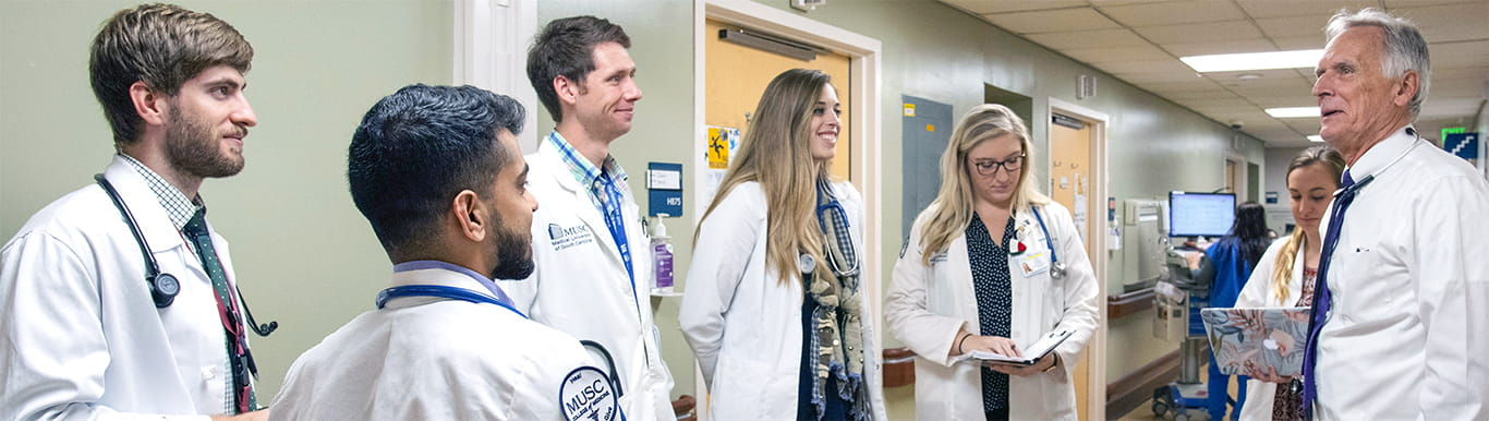 Dr. Brzezinski with residents