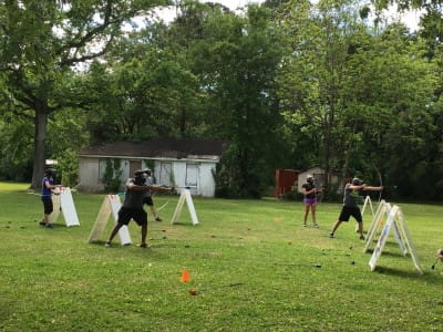 picture of residents doing archery
