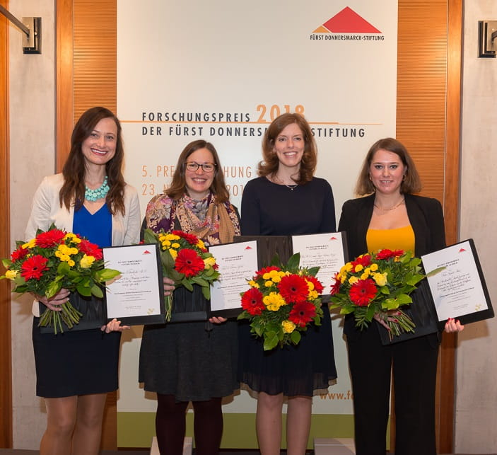 Janina receives commendation from Fuerst Donnersmark Stiftung Berlin