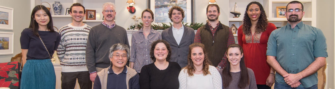 Cowan lab Christmas photo