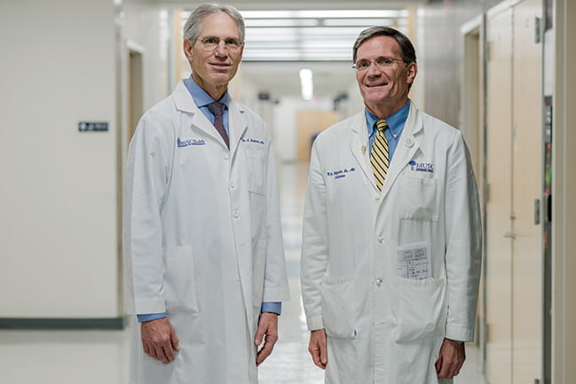 Photograph of Dr. Reitman and Dr. Pellegrini