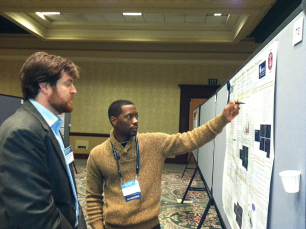 Dion Foster (masters student) presenting at the 2012 AACR Conference on The Science of Cancer Health Disparities