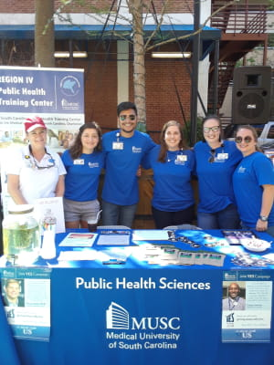 MPH Students at public health week fair