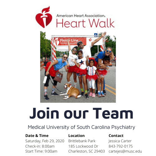 Join our heart walk team cartejes@musc.edu