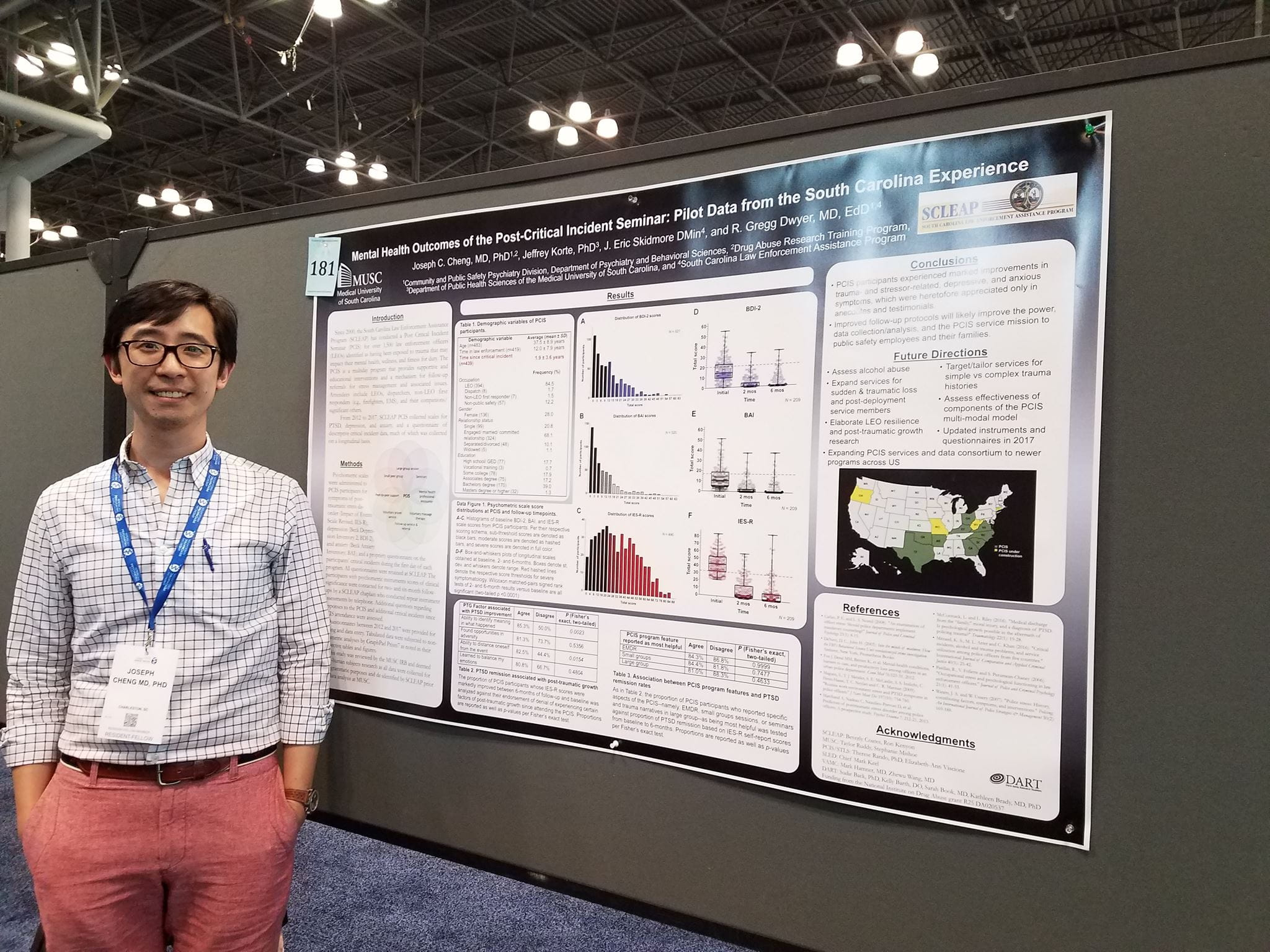Dr. Joseph Cheng presents his poster at the 2018 APA Annual Meeting