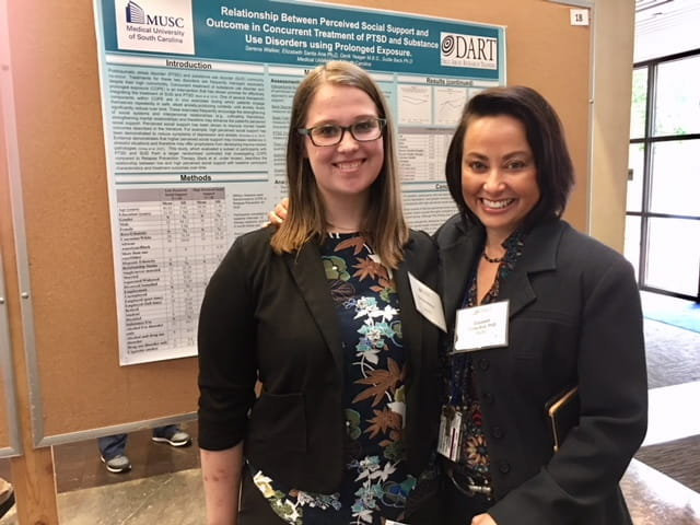 Serena Walker and mentor, Dr. Elizabeth Santa Ana at the 2018 Summer Research Day