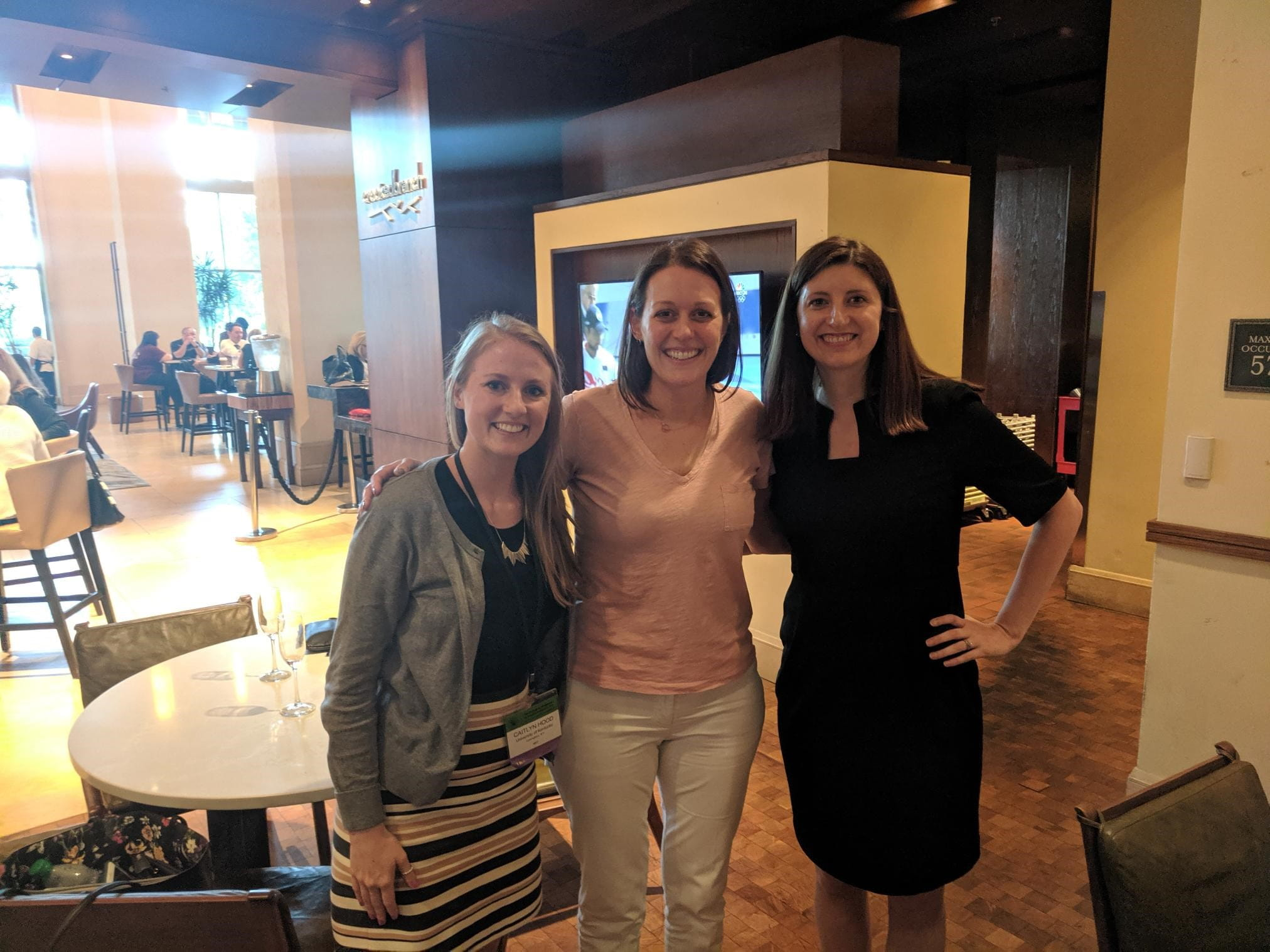 Caitlyn Hood with mentors Dr. McClure and Dr. Tomko at CPDD 2019