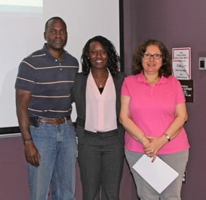 Dr. Hammad with Dr. Titus Reaves and Olanike Awontunde