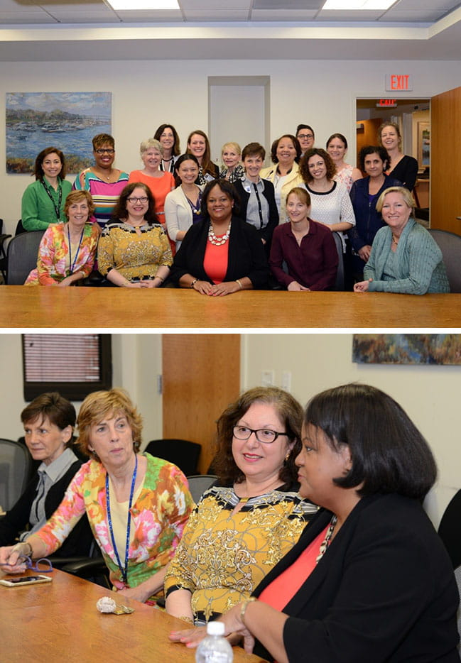 Dr. Regina Benjamin, Former Surgeon General of the United States visited MUSC on April 15, 2015 talking with MUSC women scientists