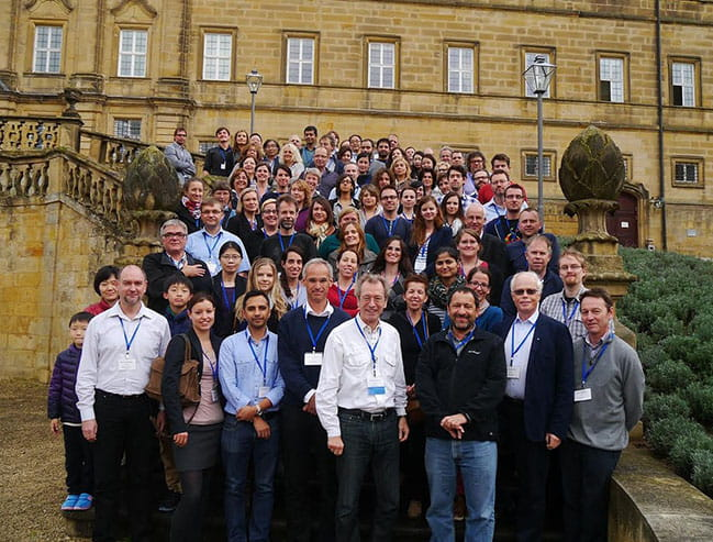 Dr. Hammad posing with members attending the 2nd International Workshop on Molecular Medicine of Sphingolipids, Kloster Banz, Germany, September 16-19, 2014.