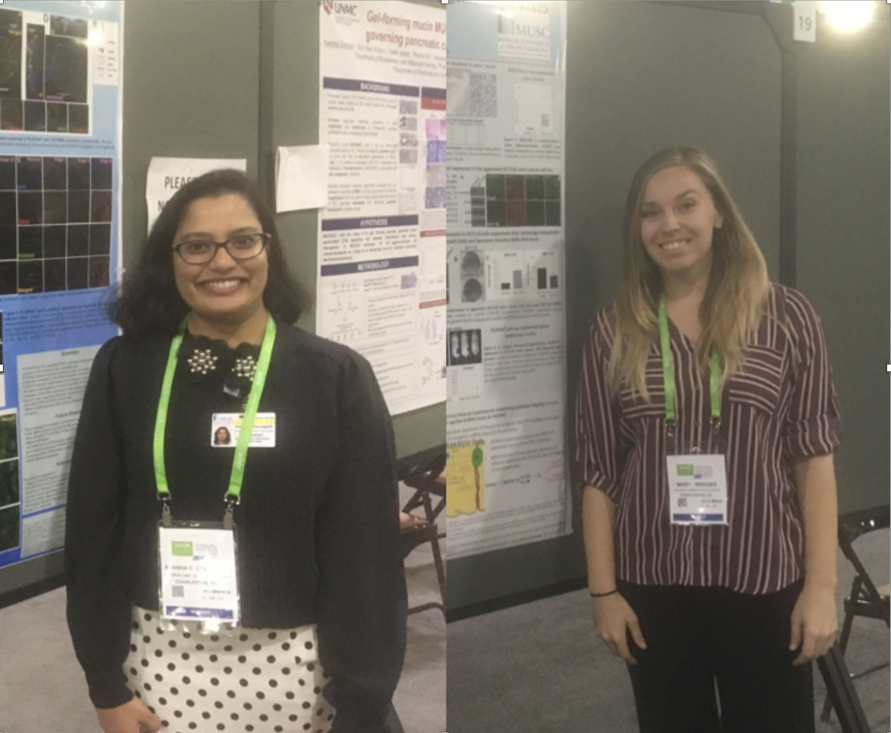 Amanda and Catherine at the AACR Meeting in 2019
