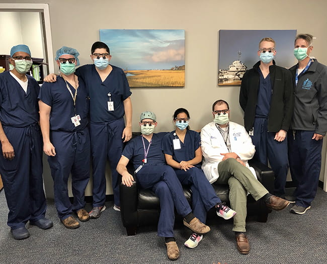 All second year residents receive loupes, courtesy of the Curtis P. Artz MUSC Surgical Society