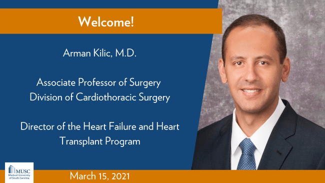 Arman Kilic MD Joins the Department of Surgery