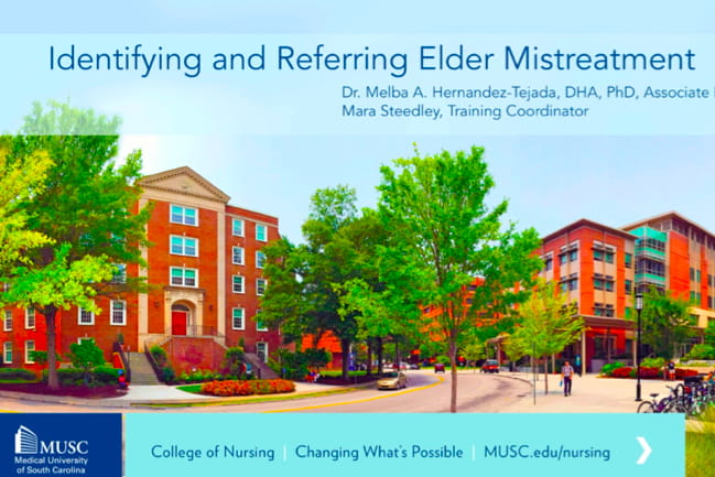 Elder mistreatment course cover image