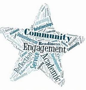 Image of start with words community and engagement